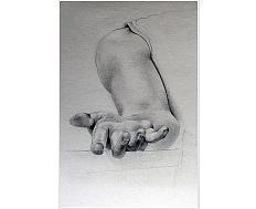 Kresba – studie ruky\